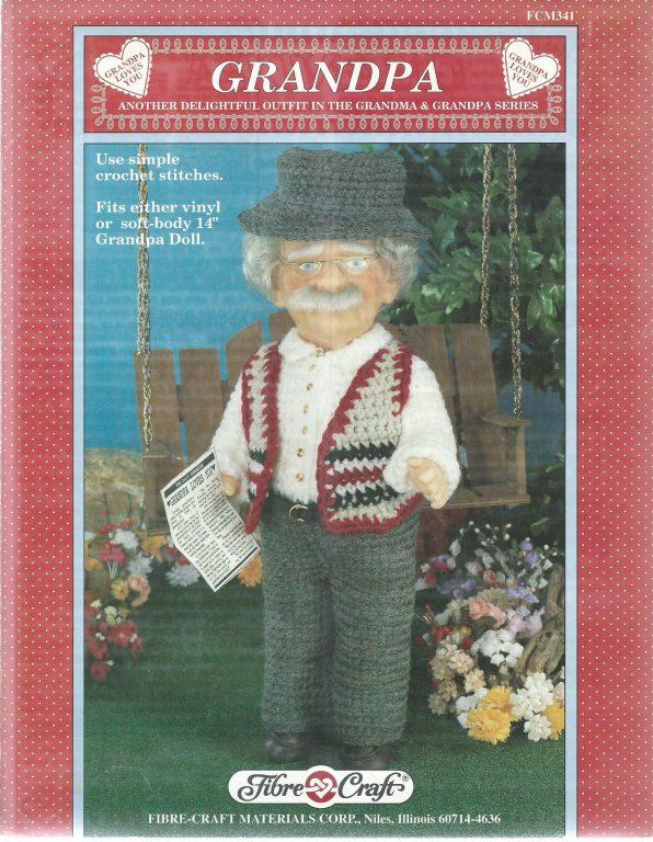 Grandma Grandpa 13 Crochet Doll Clothes Dress Pattern Vinyl Soft