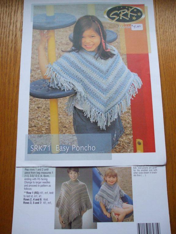 Patons Designer Series Ponchos 500984 Knitting pattern SRK ...