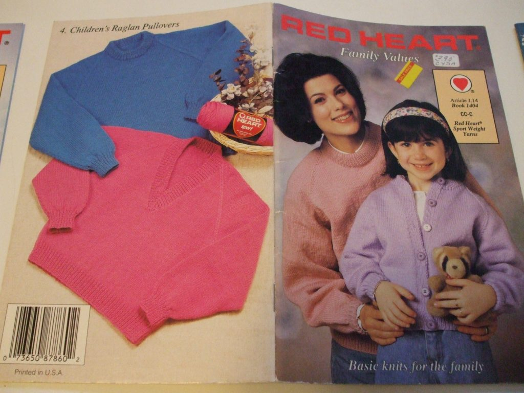Red Heart knitting patterns Sweaters pullovers cardigans raglan ...
