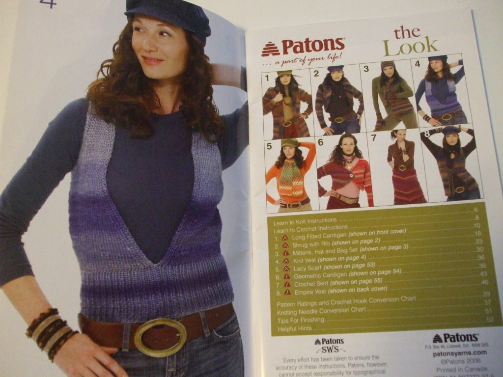 Patons knit crochet patterns womens tops lacy fancy pullovers coats ...