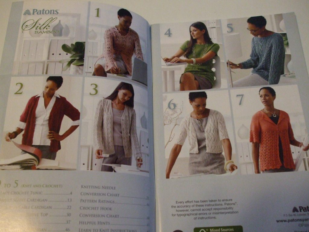 Patons knit crochet patterns womens tops lacy fancy pullovers coats cardigans