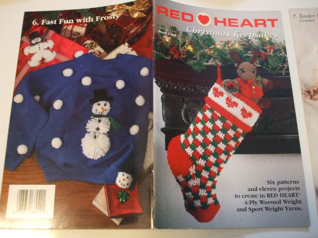 Christmas Keepsakes 1408 Red Heart Crochet Patterns Prices Us