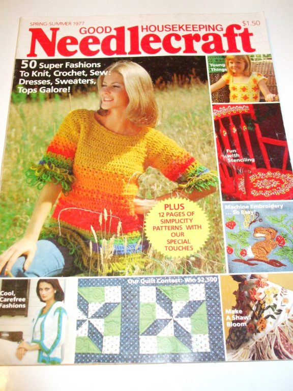Vintage Back Issues Good Housekeeping Needlecraft Knit Crochet Sew
