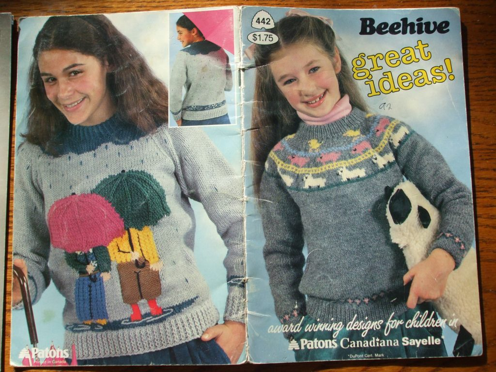 Graph knitting patterns kids children patterned pullovers cardigans ...