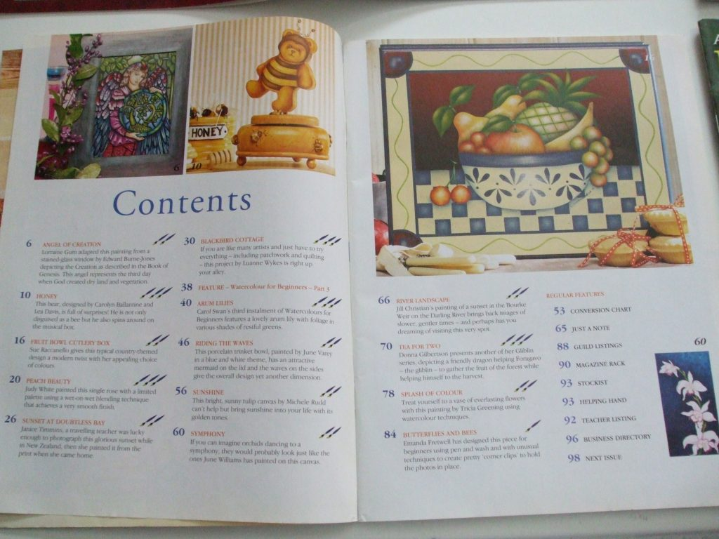 Australian Decorative Painting Magazines Pullout Patterns Prices
