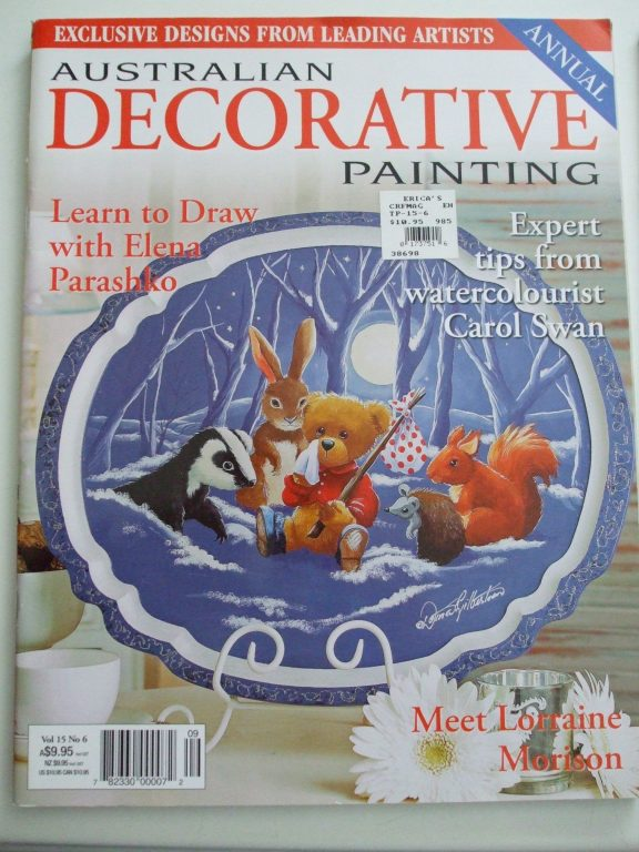 australian decorative painting magazines pullout patterns. Black Bedroom Furniture Sets. Home Design Ideas