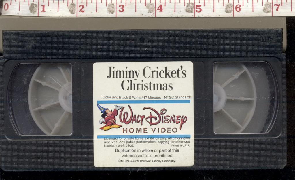 Christmas Carol Mickey\'s Jiminy Cricket\'s Walt Disney vhs home video ...